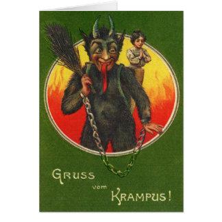 Gruss Vom Krampus Weihnachten-Karte Grußkarte