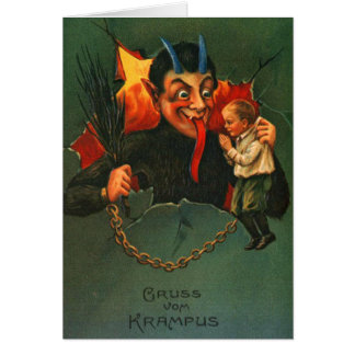 Gruss Vom Krampus Weihnachten Karte
