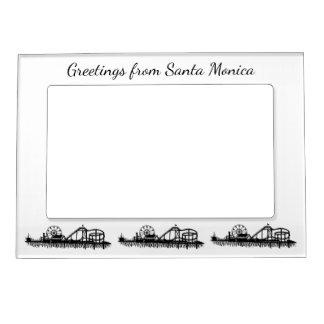 Grüße Santa Monica Kalifornien vom Pier-Geschenk Magnetischer Fotorahmen
