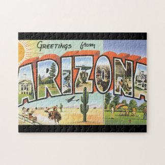 Grüße vom Arizona_Vintage Reise-Plakat Puzzle