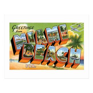 Grüße vom Miami Beach, Florida! Postkarte