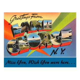 Grüße vom See George Postkarte