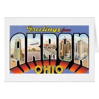 Grüße von Akron, Ohio! Karte