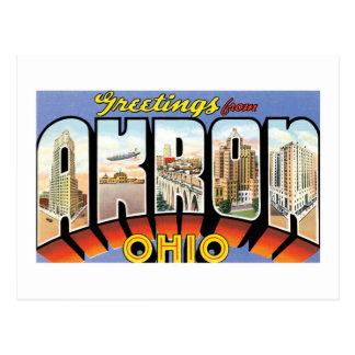 Grüße von Akron, Ohio! Postkarte