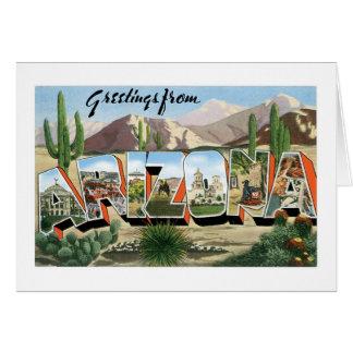 Grüße von Arizona! Retro Catcus Wüste Karte