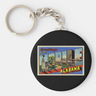 Grüße von beweglichem Alabama Standard Runder Schlüsselanhänger