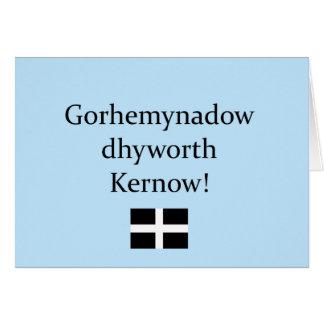 Grüße von Cornwall in der kornischen Sprache Karte