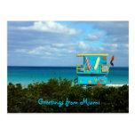 Grüße von Miami Postkarte