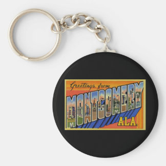Grüße von Montgomery Alabama Standard Runder Schlüsselanhänger
