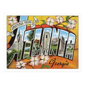 Grüße von Postkarte Atlantas Georgia USA