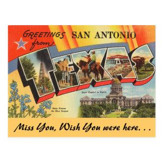 Grüße von San Antonio Postkarte