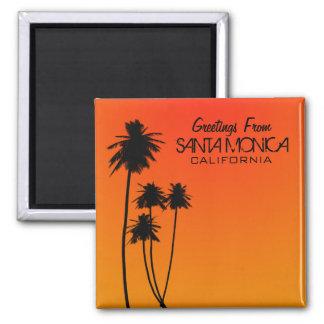 Grüße von Santa Monica Magneten Quadratischer Magnet