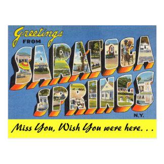 Grüße von Saratoga Springs Postkarte