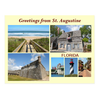 Grüße von St Augustine, Florida Postkarte