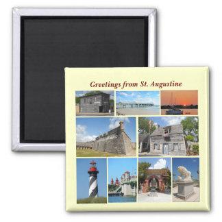 Grüße von St Augustine, Florida Quadratischer Magnet