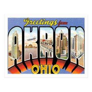 Grüße von Stadt Akrons Ohio US Postkarte