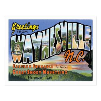 Grüße von Waynesville North Carolina US-Stadt Postkarten