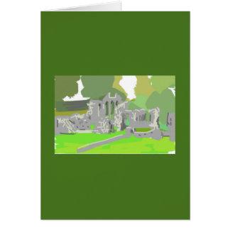 Grußkarten-Geschenk Zoll-Abtei Irland Grußkarte