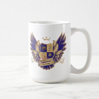 GSAs Haus-Wappen mit Flügel-der blauen Tasse