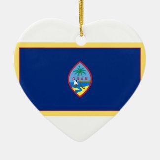 Guam-Flagge Keramik Ornament