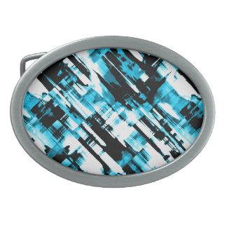 Gürtelschnalle heißes BlueBlack abstraktes