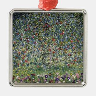 Gustav Klimt - Apfelbaum-Malerei Silbernes Ornament