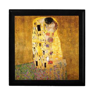Gustav Klimt das Kuss-Meisterwerk Große Quadratische Schatulle