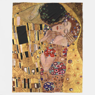 Gustav Klimt: Der Kuss (Detail) Fleecedecke