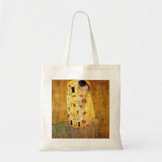 Gustav Klimt die Kuss-Taschen-Tasche Budget Stoffbeutel