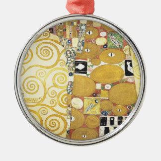 Gustav Klimt - die Umarmung - klassische Grafik Silbernes Ornament