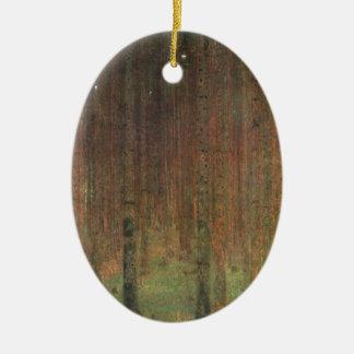 Gustav Klimt - Kiefern-Wald Keramik Ornament