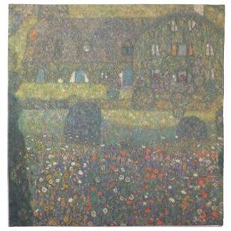 Gustav Klimt - Landhaus durch die Attersee Kunst Serviette