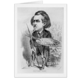Gustave Dore (1832-83), Karikatur von 'Le Boulev Karte