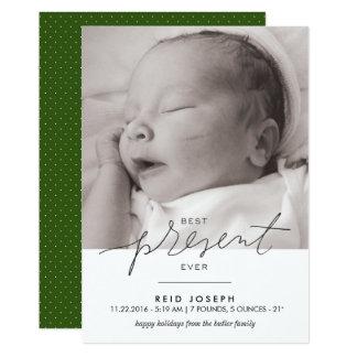 Gut Geschenk-überhaupt Geburts-Mitteilung - 12,7 X 17,8 Cm Einladungskarte
