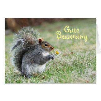 Gute Besserung niedliche Eichhörnchen-Karte Grußkarte