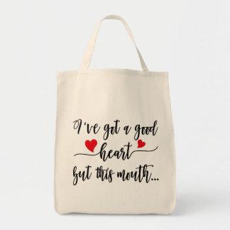 Gute Herz-schlechter Mund-Tasche Tragetasche