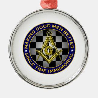 Gute Männer besser machen Rundes Silberfarbenes Ornament