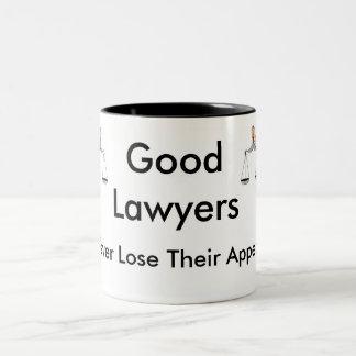 Gute Rechtsanwälte verlieren nie ihre Berufung Zweifarbige Tasse