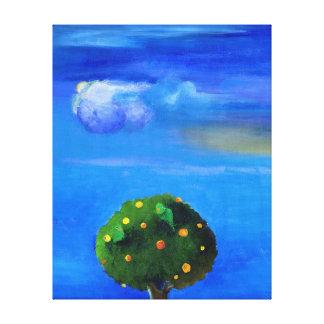 Gute Seite über dem Orangenbaum 2012 Gespannter Galerie Druck