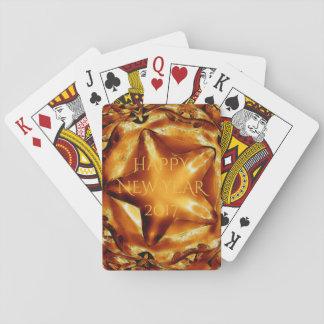 Guten Rutsch ins Neue Jahr-Brown-Goldkupfer-Stern Spielkarten
