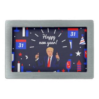 guten Rutsch ins Neue Jahr Donald Trump Rechteckige Gürtelschnalle