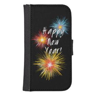 Guten Rutsch ins Neue Jahr-Feuerwerk Phone Geldbeutel