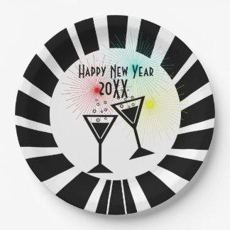 Guten Rutsch ins Neue Jahr Pappteller
