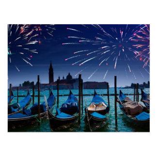Guten Rutsch ins Neue Jahr von Venedig-Postkarte Postkarte