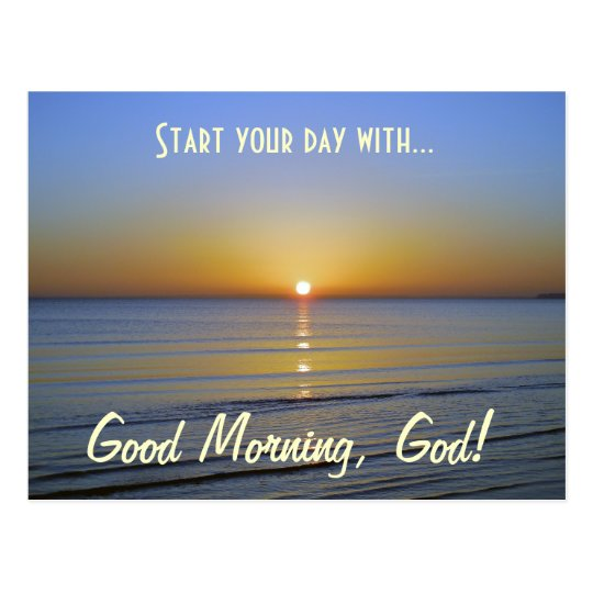 Gutenmorgen Gott Inspirational Christliche Postkarte