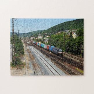 Güterzug in Gemünden am Main Puzzle