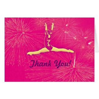 Gymnast danken Ihnen zu kardieren Karte