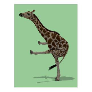 Gymnast-Giraffe Postkarte