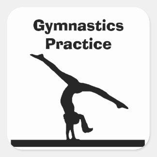 """""""Gymnastik-"""" Aufkleber"""