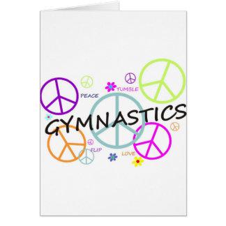 Gymnastik-Friedenszeichen Karte